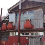 かまぼこ屋さんのユニークな煙突